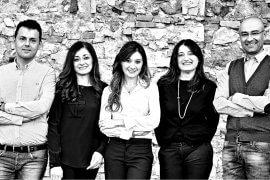 Pino, Carmela, Lucia, Angela e Michele Librandi